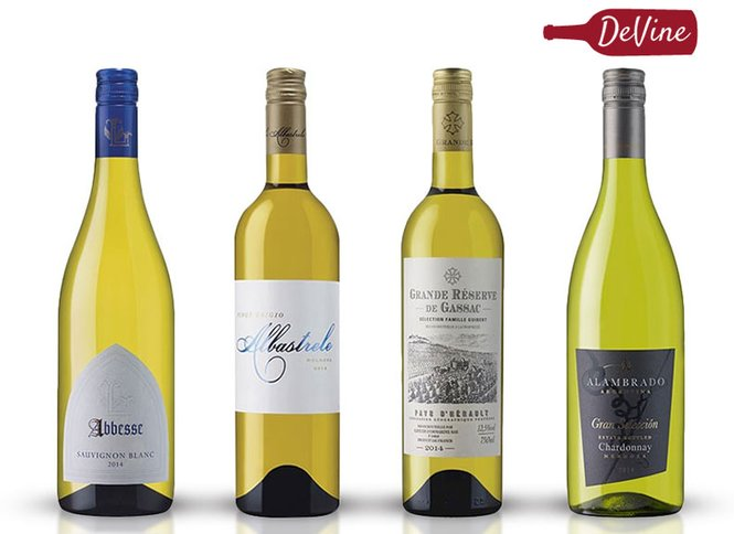 מארז מושלם של 4 יינות איכותיים מרחבי העולם מבית DeVine מארגז חגיגי הכולל 4 יינות לבנים מהארץ ומהעולם, אפשרות למשלוח עד הבית!