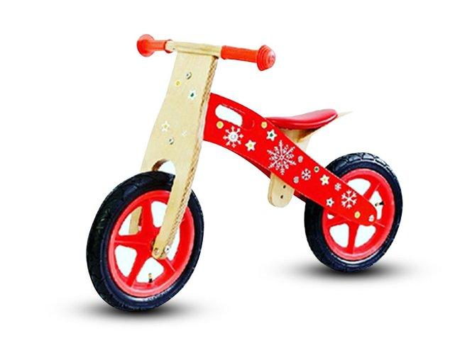 מגניב האופניים הראשונים שלי! אופני איזון מעץ לילדים לפיתוח שיווי - באליגם MM-28